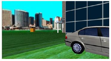 Screenshot with BMW product placement and Nokia cellphone billboard