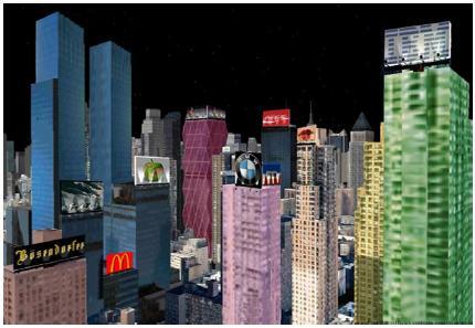Screenshot of an in-game advertising
